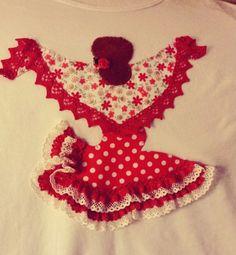 Camiseta flamenca Flamenco Dancers, All Holidays, Diy And Crafts, Applique, Clip Art, Holiday Decor, Creative, Gift, Costumes