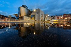 """Brief Aquatic"" Guggenheim Museum Bilbao. Reflection After Heavy Rain...Photo by David Gutierrez Photography, London Photographer. London photographer specialising in architectural, real estate, property and interior photography. http://www.davidgutierrez.co.uk ‪#‎realestate‬ ‪#‎property‬ ‪#‎commercial‬ ‪#‎architecture‬ ‪#‎Guggenheim ‪#‎Photography‬ ‪#‎Photographer‬ ‪#‎Art‬ ‪‬‪#‎City‬ ‪#‎Urban‬ ‪#‎Beautiful‬ ‪#‎Interior‬ ‪#‎Arts‬ ‪#‎Cityscape‬ ‪#‎Night‬ ‪#‎Twilight‬ ‪#‎Dusk‬ #Bilbao"