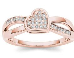 14Kt Rose Gold Plated Pink Opal & Diamond by ElizabethJewelryInc