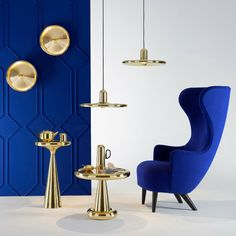Luxury furniture pieces by Tom Dixon. #sidetabledesign modern design #tomdixon best furniture brands #luxurydesign living room design ideas. See more at www.coffeeandsidetables.com