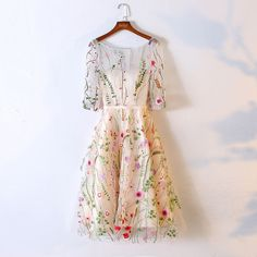 Find unique, vintage and handmade Best A-Line Bateau Half Sleeves Short Beige Tulle Homecoming Dress with Embroidery Homecoming Dresses in sevengrils A-Line Bateau Half Sleeves Short Beige Tulle Homecoming Dress with Embroidery Floral Homecoming Dresses, Tea Length Bridesmaid Dresses, Prom Dresses 2017, Short Dresses, Lace Dresses, Floral Dresses, Luulla Dresses, Floral Lace Dress, Graduation Dresses