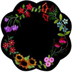 Garden Blooms Table Mat - Wool Applique