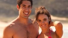 Tai Hara and Cassie Howarth who plays the character, Andy Barrett and Hannah Wilson from Home and Away