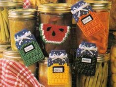 FOOD-MAGNETS-CANNING-JARS-WATERMELON-PLASTIC-CANVAS-PATTERN-ONLY-FROM-A-BOOK