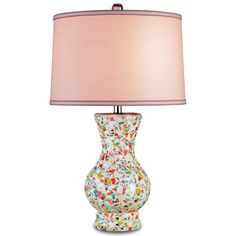 Porcelain Mosaic Table Lamp by Currey and Company.
