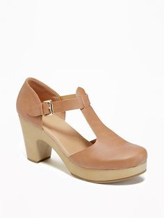 T-Strap Clogs for Women