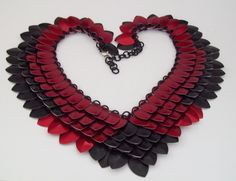 Smoke and Fire Scale Necklace