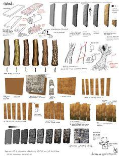Le crayon Diabolique: wood material tut