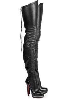 Fancy - Christian louboutin Unique 140 leather boots [Christian Louboutin High Boots 8619] - $279.00 : Christian Louboutin Shoes, Christian Louboutin Shoes Store