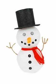 Deco Mesh Tubing Snowman by Amy Hartman, A.C. Moore, Manahawkin, NJ #craft #snowman #winter