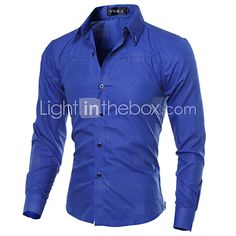 Men's Fashion Obscure Diamond Lattice Slim Fit Long-Sleeve Shirt - USD $7.99 ! HOT Product! A hot product at an incredible low price is now on sale! Come check it out along with other items like this. Get great discounts, earn Rewards and much more each time you shop with us!