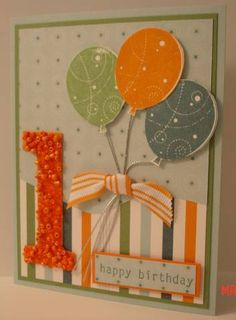 using Stampin Up Birthday Whimsy