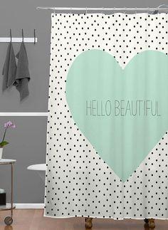 'Hello Beautiful' Shower Curtain