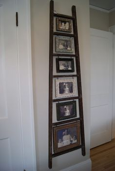 @Jill Meyers howe  Old ladder, old pix (need to sand the ladder i have and do this)