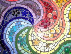 https://flic.kr/p/4S2XNx | Rainbow swirls | close up, centre