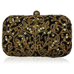 BRIDAL BLING By Kunst : Meet new shine bright embellished clutch like a diamond with dabka and acrylic sequins embroidery.  this clutch will give perfect matching with outfits at Night outs, wedding reception and other night party. Get this designer Kunst Clutch @ Rs 5,670 Only India