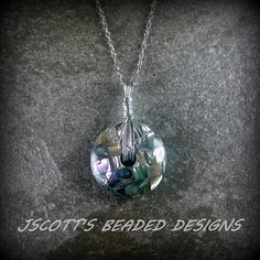Wire Wrapped Mosaic Shell Pendant Necklace. Starting at $8 on Tophatter.com!