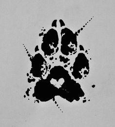 Pawprint tattoo