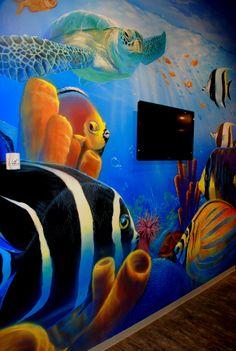 Undersea mural.