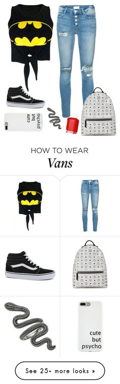 """""""#755"""" by anna-siegl on Polyvore featuring Mother, WithChic, Vans, MCM and Essie"""