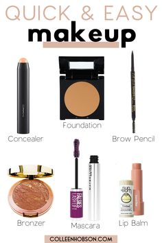 Need inspo for a quick and easy everyday makeup look? Here are tips for a simply yet pretty makeup look you can sport with confidence on the daily. #easy #everyday #makeup #look Natural Makeup Tips, Beauty Tips For Skin, Simple Everyday Makeup, Simple Makeup, Drugstore Makeup Dupes, Beauty Dupes, Basic Makeup Kit, Makeup Foundation, Drugstore Foundation