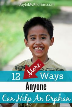 Not called to foster or adopt but still want to get involved in orphan care? Read through this list for 12 MORE practical ways to help orphans.