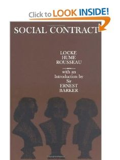 Social Contract: Essays by Locke, Hume, and Rousseau: John Locke, David Hume, Jean-Jacques Rousseau, Sir Ernest Barker: 9780195003093: Amazon.com: Books