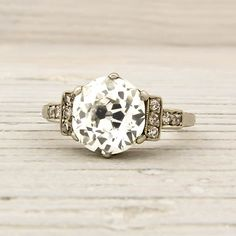 2.06 Carat Old European Cut Diamond Engagement Ring | New York Vintage & Antique Engagement Rings and Jewelry – Erstwhile Jewelry Co NY