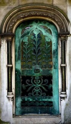 Green Archway Door - all the beauty things...