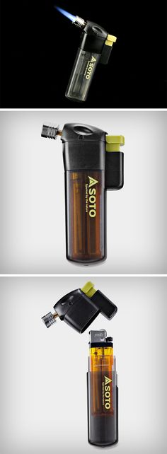 Soto's Pocket Torch turns your regular disposable lighter into a pretty serious blowtorch that burns at anywhere north of 2300°F. Simply designed to be a casing for your regular lighter (the cheap rectangular kind that come in packs of 10s, not any novelty lighter), the Pocket Torch creates a strong, wind-resistant, directional flame, great for pointing at objects you wish to ignite. BUY NOW!