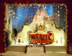 Christmas Store Window Train