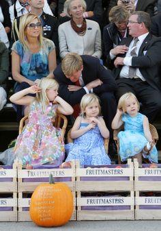 les princesses Amalia, Alexia et Ariane