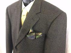 Uomo Tallia Pinstripes Mens Sport Coat 42 Regular Lambswool Cashmere 3 Button #UomoTallia #ThreeButton