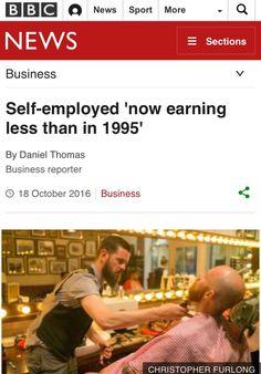 Los autonomos ganan menos en 2016 que en 1995