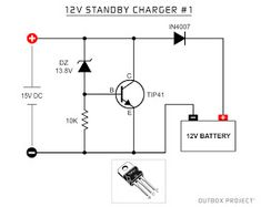 If at your place you often turn off the lights and you need a standby charger for the lights . - Elektronik If your place is often off and you need a standby charger for emergency lights … you can try this circuit, Standby charg … - Lead Acid Battery Charger, Battery Charger Circuit, Automatic Battery Charger, Electronic Circuit Design, Electronic Engineering, Ldr Circuit, Power Supply Design, Electrical Circuit Diagram, Electric Circuit
