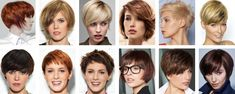 Photos of modern haircuts for short hair with bobs, pixies and more