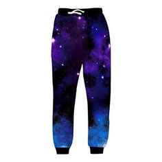 Uideazone Mens 3D Printed Star Galaxy Sweatpants Sports Joggers Pants Hip Hop