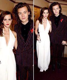 Emma Watson and Harry Styles at the British Fashion Awards - Dec. 1