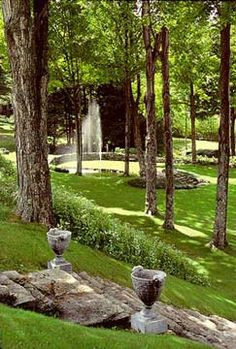 Ashintully Gardens. An intimate environment of sculpture + elegant gardens in the Berkshires.