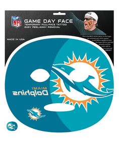 This Miami Dolphins Game-Day Face Temporary Tattoo is perfect! #zulilyfinds