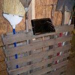 Wood Pallet Barn Tool Rack
