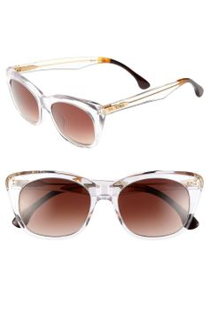 Love the Toms TOMS 'Kitty' 53mm Sunglasses (Save Now through 12/17) on Wantering | $111 | sale price | Boxing Week for Her | womens sunglasses | clear | womens accessories | wantering http://www.wantering.com/womens-clothing-item/toms-kitty-53mm-sunglasses-save-now-through-1217/abpGM/
