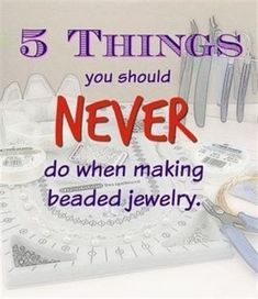 New to the beading world? Maybe you're just curious if you are doing things correctly. There really are do's and dont's when it comes to jewelry making. This post from Beadalon… Body Jewelry Shop, Jewelry Tools, Wire Jewelry, Jewelry Crafts, Handmade Jewelry, Jewelry Ideas, Jewellery Box, Jewellery Shops, Jewelry Armoire