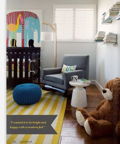 This is the look I'm going for my LIVING room tho- cute for a nursery too Nursery Inspiration, Nursery Ideas, Room Ideas, Mellow Yellow, Yellow Rug, Yellow Stripes, Gray Yellow, Bright Yellow, Nursery Design