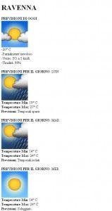 Parsing e lettura files xml di dati meteo contenenti previsioni meteo utilizzando PHP