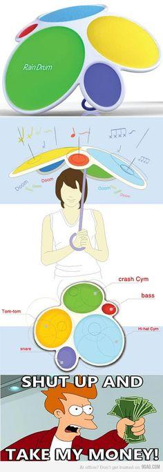 rain drum--coolest idea ever!