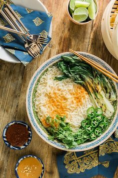Spicy Vegetarian Ramen Noodles recipe by Waiting on Martha