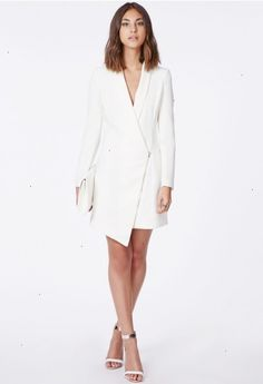 a54ed5acf2b89 Sancha Long Line Asymmetric Zipped Blazer Dress - Blazers - Missguided  Jacket Dress, Tux Dress