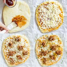 Easy Pulled Pork Pizza puts leftovers to work! Use a flatbread crust, barbecue sauce, cheese, and crunchy canned onions for a tasty dinner ready in 10 minutes!
