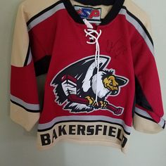 BAKERSFIELD CONDORS AUTOGRAPHED HOCKEY JERSEY SIZE S/M YOUTH